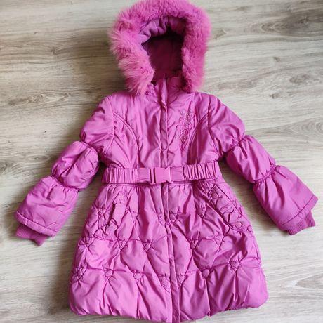 Зимнее пальто 110-116