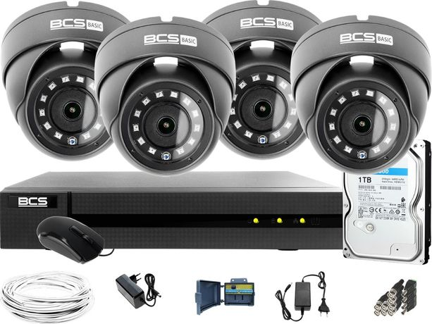Zestaw do monitoringu domu 4 kamery rejestrator