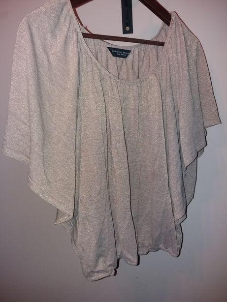 Bluzka złota koszulka nietoperz Dorothy Perkins L / 40