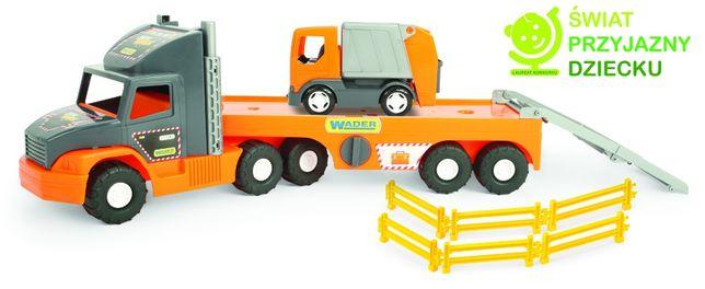 Wader Auto Super Tech Truck laweta ze śmieciarką