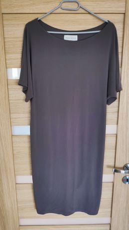 Brązowa sukienka z podszewką