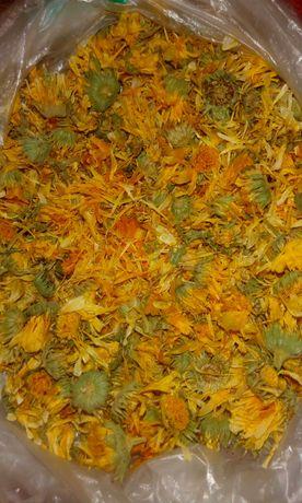 Календула лекарственная соцветия, цвет, цветки 50 грамм