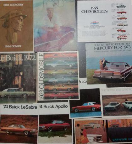 Рекламный брошюры, проспект, каталог, буклет, буклеты 60-70-е годы США