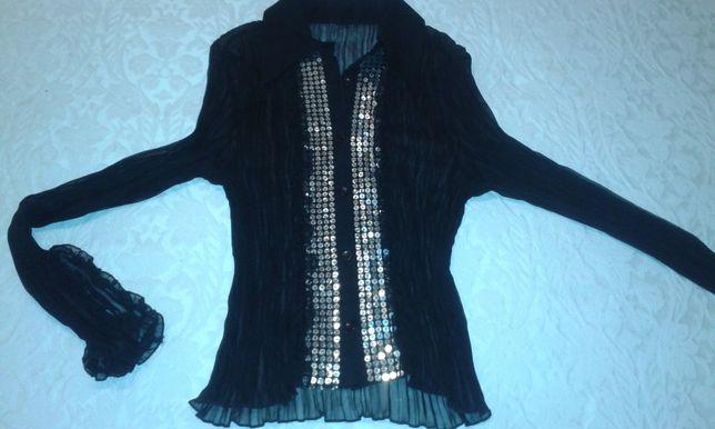 Camisa / Blusa com lantejoulas preta