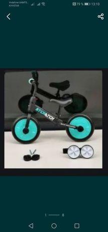 2в1Беговел детский велосипед 2х колесный двухколесный 12дюймов велобег