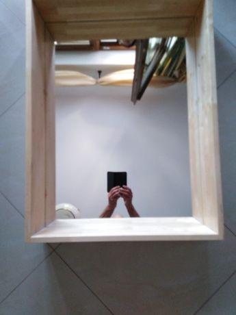 Półkolustro (drewno szklo)