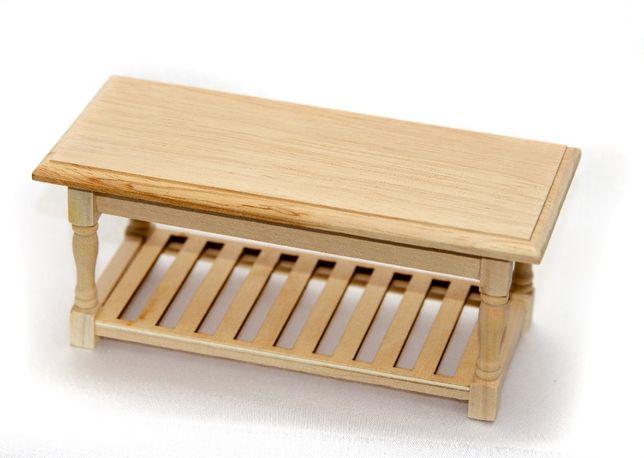 Миниатюра. Чайный столик из нат.дерева для домика в масштабе 1:12