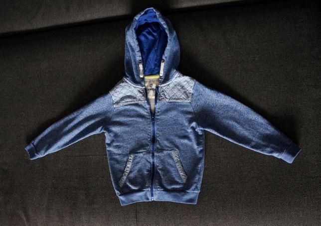 bluza rozpinana z kapturem Lupilu r.110/116 ciepla na zimę