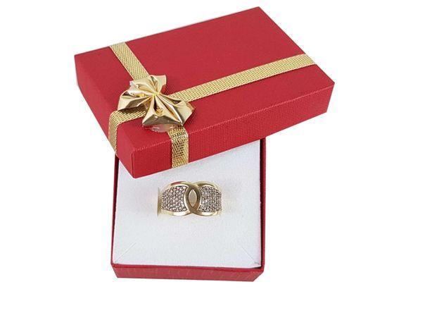 Złoty pierścionek z cyrkoniami P585 4,15G R17
