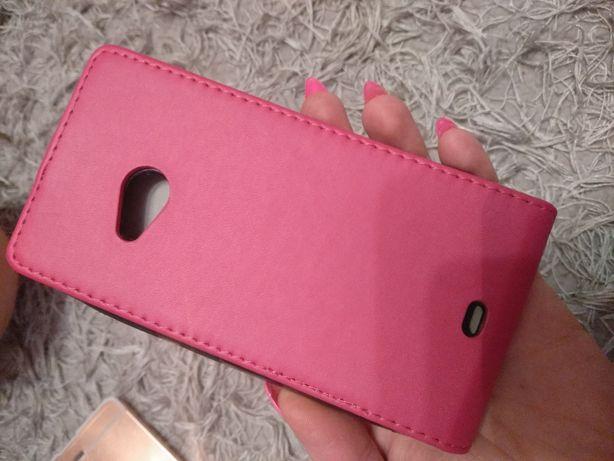 Różowy pokrowiec etui kabura Lumia 535