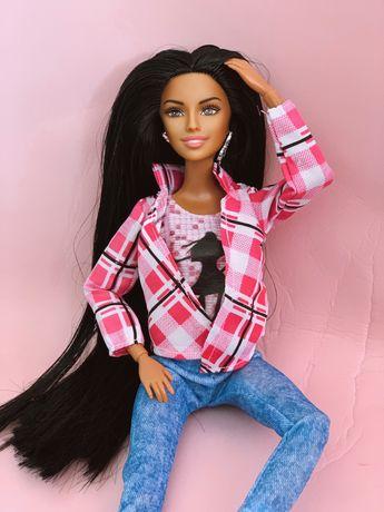 Кукла шарнирная barbie барби мулатка куколка коллекционная брюнетка