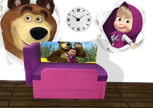 Усиленный детский диван-кровать Маша и Медведь