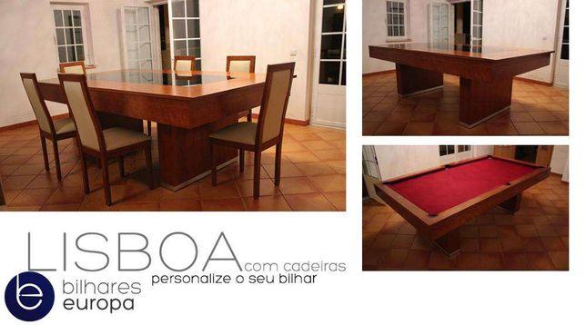 Conjunto bilhar Lisboa +6 cadeiras OFERTA tampo Bilhares Europa