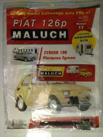 Kolekcja Deagostini Metalowy Model FIATA 126p z przyczepą nr: 17