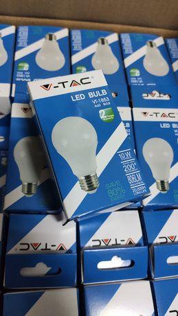 Lâmpada LED E27 A60 10W 806lm 6000K Branco Frio V-TAC VT-1853