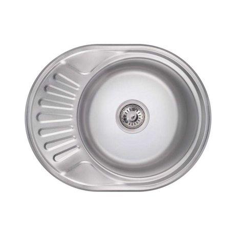 Кухонна мийка Lidz 57/45/18см 0,8 мм micro decor