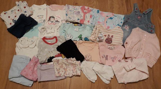 Paka ubranek: body, spodnie, bluzki rozmiar 68