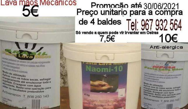 4 Baldes massa lava mãos mecânicos 4kg,mais barata do mercado até30/06