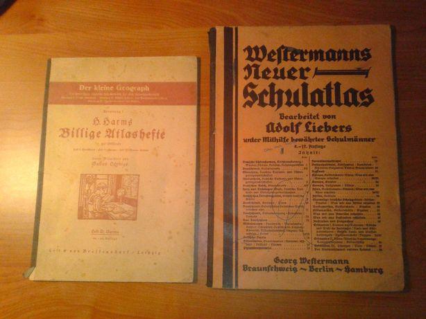 niemieckie atlasy szkolne z 1927r
