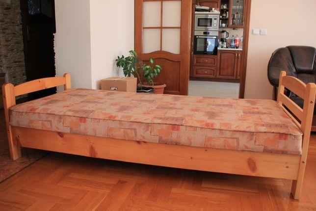 Łóżko dziecięce drewniane sosnowe z pojemnikiem