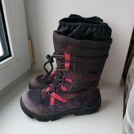 Зимние кожаные сапоги ботинки Ecco 31р. 20.5 см.