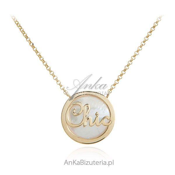 ankabizuteria.pl Srebrny naszyjnik pozłacany CHIC - elegancko i szykow Hecznarowice - image 1