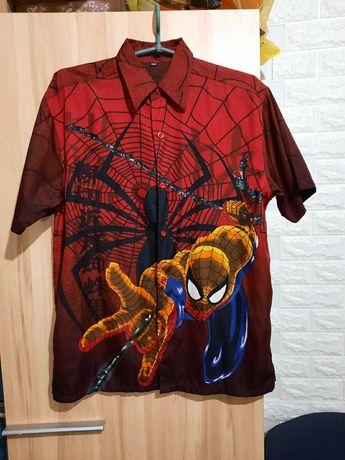 Рубашка спайдермена,рубашка человек паук