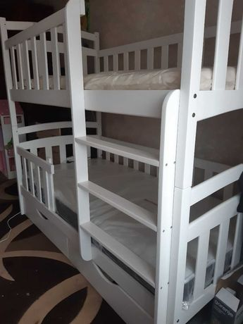 Детская кровать двухъярусная трансформер, купить мебель с дерева!
