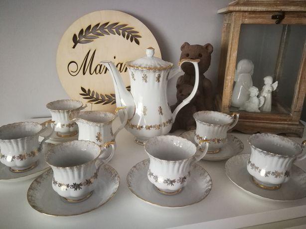 Porcelana serwis kawowy herbaciany Chodzież made in Poland lata 80 PRL