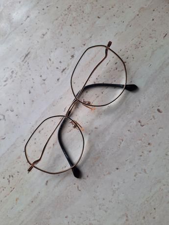 Oprawki okularowe zlote