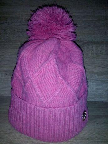 Детская шапка на девочку зимняя 8-9 лет