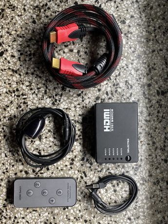 Rozgałęźnik/spliter/HUB HDMI 5 urządzeń