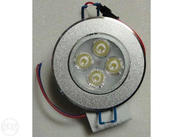 Luz LED de encastrar 4x3W 12W 220V
