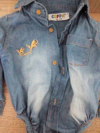 Продам джинсовий боді для дівчинки