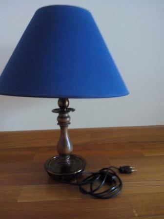Candeeiro de Mesa com abajour Azul