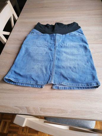 Spódniczka jeans ciążowa M H&M