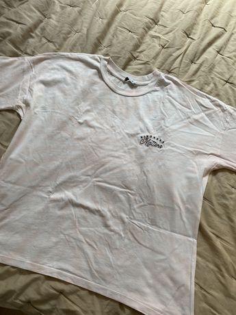 T-shirt tie dye branca e rosa M