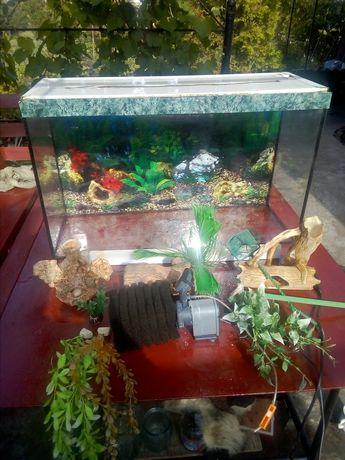 Продам аквариум на 110 л  и все что на фото