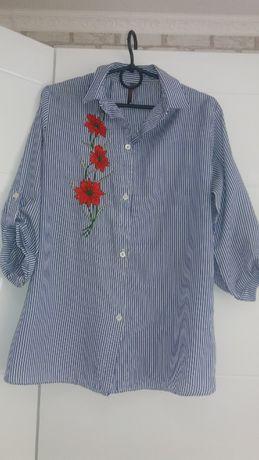 Рубашка в полоску 44-46(M-L)