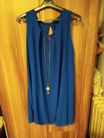 sukienka tiulowa niebieska rozmiar 38