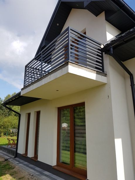 Balustrada balkonowa stalowa metalowa