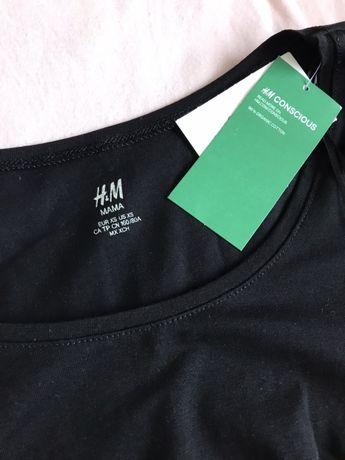 Czarna bluzka ciazowa nowa H&M mama XS 34 basic