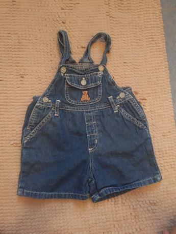 Легкий джинсовый комбинезон, 3-6 м.