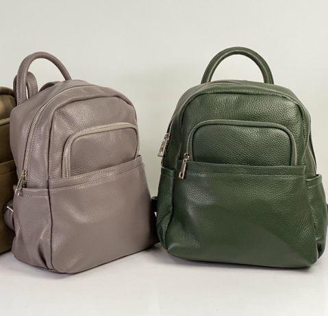 Зеленый кожаный рюкзак Итальянский рюкзак Черный кожаный рюкзак