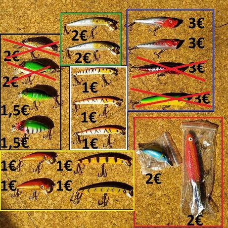 Pesca Amostras etc. (rígidas, vinis, montagens)