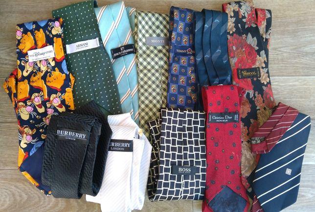 Галстук краватка винтаж лот 12шт gucci dior Burberry hugo givenchy