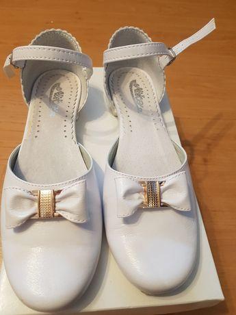 Buty komunijne białe rozm. 36