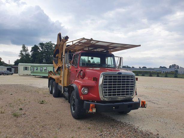 Przesadzanie drzew,przesadzarka do drzew Ford 8000,Tree spade truck