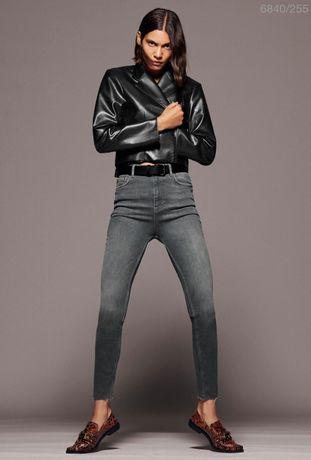 Spodnie jeansowe Zara Premium skinny rurki mist grey jeansy