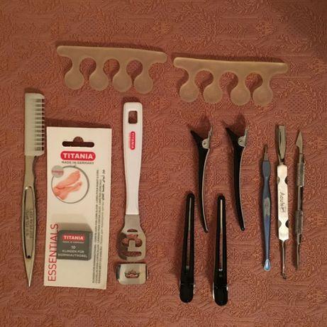 Пинцет, набор для педикюра, заколки для волос
